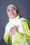 Muslim woman in scarf, isolated. Confident Muslim woman in scarf, isolated Stock Photos