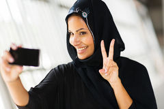 Muslim woman selfportrait Royalty Free Stock Images