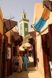 Muslim woman shopping in the medina. Muslim woman shopping in the Meknes medina, Morocco Stock Image