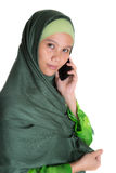 Muslim Woman With Smartphone IV Royalty Free Stock Photo