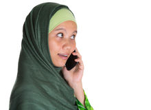 Muslim Woman With Smartphone V Stock Photos