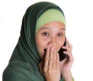 Muslim Woman With Smartphone VI Royalty Free Stock Photos