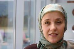 Muslim woman smiling Royalty Free Stock Photos