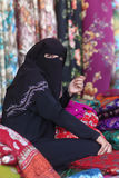 Muslim woman with traditional clothing Stock Photos