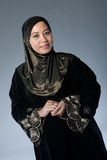 Muslim woman in traditional Islamic clothing Stock Photos