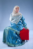 Muslim woman in traditional Malay clothing Stock Image