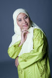 Muslim woman in traditional Malay Muslim clothing Stock Photography