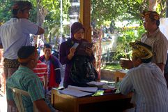 Muslim woman voting in Indonesia Royalty Free Stock Photo