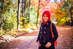 Muslim woman wearing hijab Stock Photos