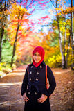 Muslim woman wearing hijab Royalty Free Stock Photos