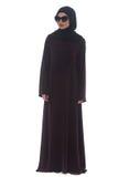 Muslim Woman Wearing Hijab And Sunglasses On White Stock Photo