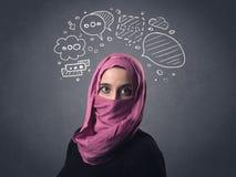 Muslim woman wearing niqab Royalty Free Stock Photos