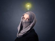 Muslim woman wearing niqab Royalty Free Stock Photography