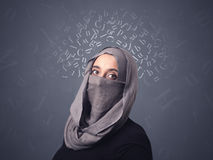Muslim woman wearing niqab Royalty Free Stock Photography