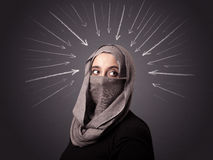 Muslim woman wearing niqab Royalty Free Stock Images