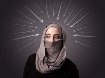 Muslim woman wearing niqab Royalty Free Stock Image