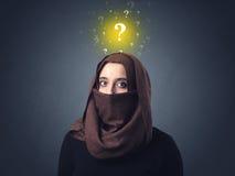 Muslim woman wearing niqab Royalty Free Stock Photo
