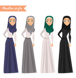 Muslim woman wears hijab Royalty Free Stock Photos