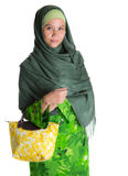 Muslim Woman With Yellow Handbag II Stock Photography