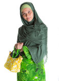 Muslim Woman With Yellow Handbag IV Stock Photos