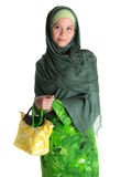Muslim Woman With Yellow Handbag VI Stock Photo