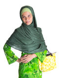 Muslim Woman With Yellow Handbag VII Stock Images