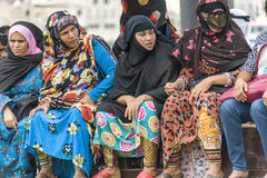 Muslim women. On a boat in the creek of Dubai Stock Photography