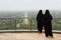 Muslim Women with Burqa. In Islamabad, Pakistan Royalty Free Stock Image