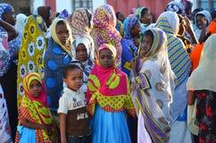 Muslim women and children, Zanzibar Stock Image