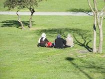 Muslim women having picnic in a park Stock Images
