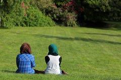 Muslim Women In The Park Stock Photos