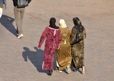 Muslim women in Marrakech. Morocco Stock Photos