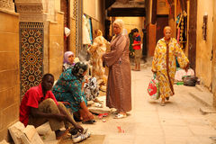 Muslim women in the medina Stock Photo