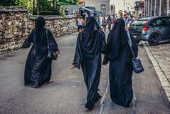 Muslim women in Mostar Royalty Free Stock Photo