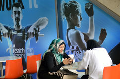 Muslim women wearing hijab Royalty Free Stock Photography
