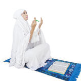 Muslim worshiper praying on the GOD Royalty Free Stock Image