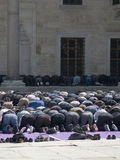 Muslim worshipers at the time of prayer. Royalty Free Stock Photos