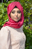 Muslim young woman. Beautiful muslim young woman very stylishly dressed Royalty Free Stock Photo