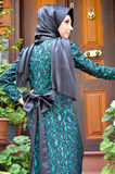 Muslim young woman. Beautiful muslim young woman very stylishly dressed Stock Image