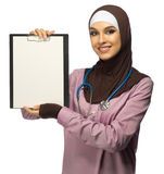 Muslim young woman medical doctor Royalty Free Stock Images