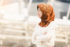 Muslim young woman Royalty Free Stock Photos