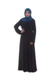Muslim Young Woman Wearing Hijab On White Stock Photo