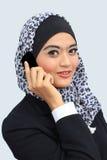 Muslimah affärsidé Arkivfoto