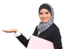 Muslimah affärsidé Arkivbilder