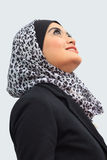 Muslimah business concept. Young asian muslim woman smile while looking at above Royalty Free Stock Image