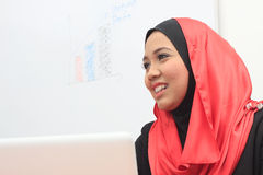 Muslimah business concept. Young asian muslim business women Royalty Free Stock Image