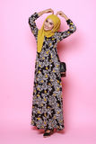 Muslimah model in fashionable dress Stock Images