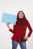Musliman hold placard Royalty Free Stock Photography
