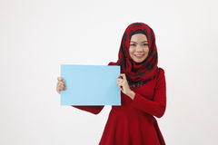 Musliman hold placard Stock Photo