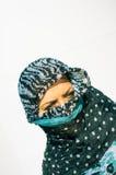 Muslimflicka som ha på sig higab Royaltyfri Foto